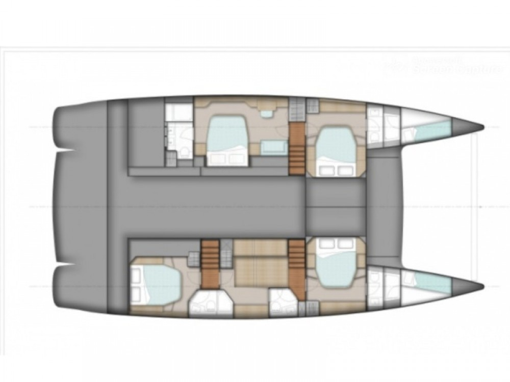 Fountaine Pajot Sanya 57 - 4 cabin version between personal and professional Alimos Marina