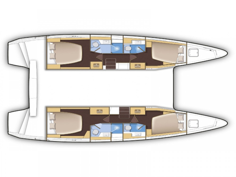Boat rental Mykonos cheap Lagoon 42