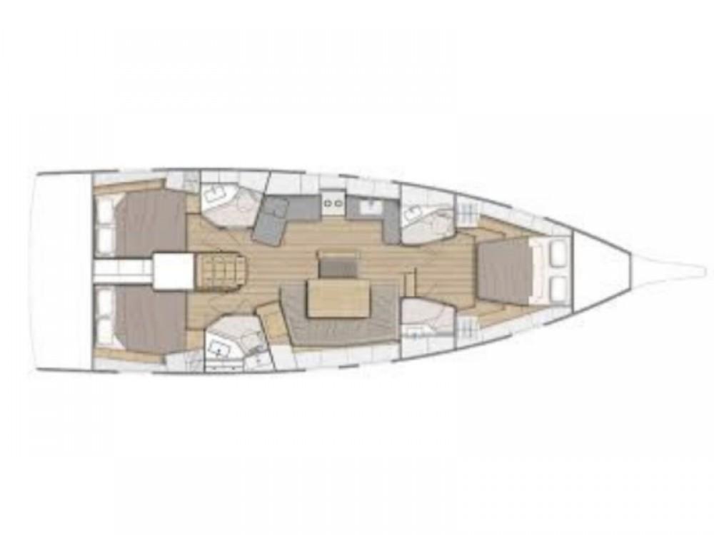 Rental yacht Marina Gouvia - Bénéteau Oceanis 46.1 - 3 cabin version on SamBoat