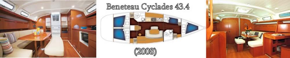 Rental Sailboat in  - Bénéteau Benetau Cyclades 43,4