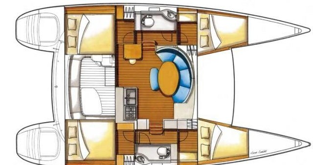 Rental yacht Salamina - Lagoon Lagoon 380 on SamBoat