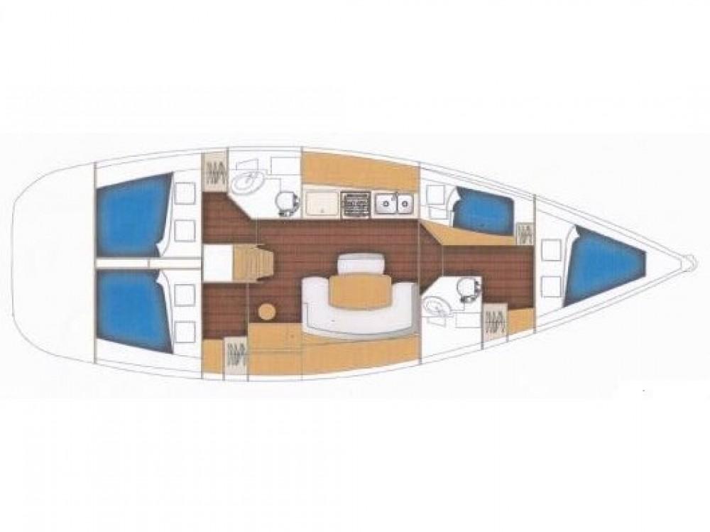 Boat rental  cheap Cyclades 434