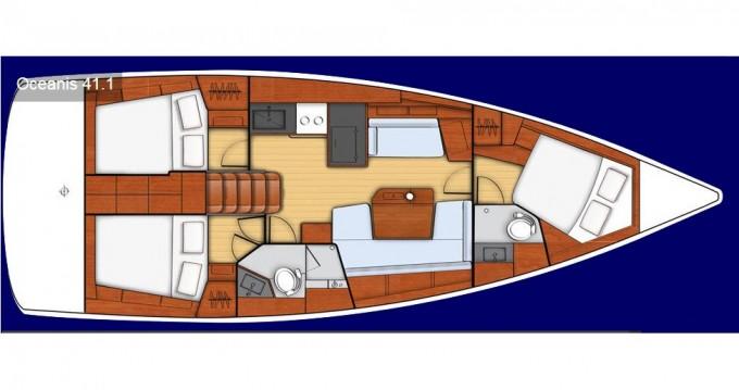 Rental Sailboat in Lefkas Marina - Bénéteau Oceanis 41.1