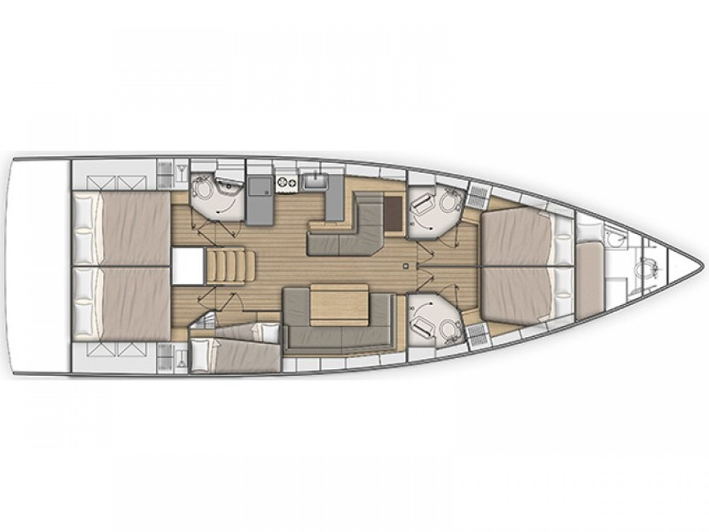 Rental yacht Lefkada - Bénéteau Oceanis 51.1 on SamBoat
