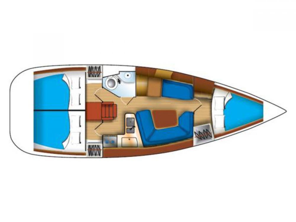 Rental Sailboat in Grad Biograd na Moru - Jeanneau Sun Odyssey 35