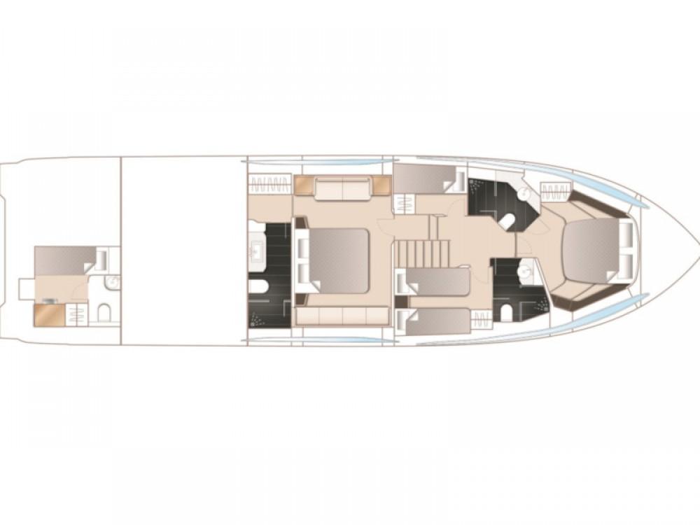 Boat rental Šibenik cheap Princess S65