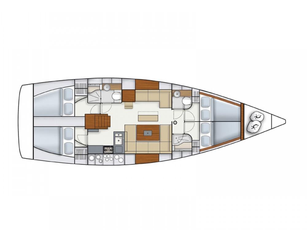 Rental Sailboat in Marina Kaštela - Hanse Hanse 445/4