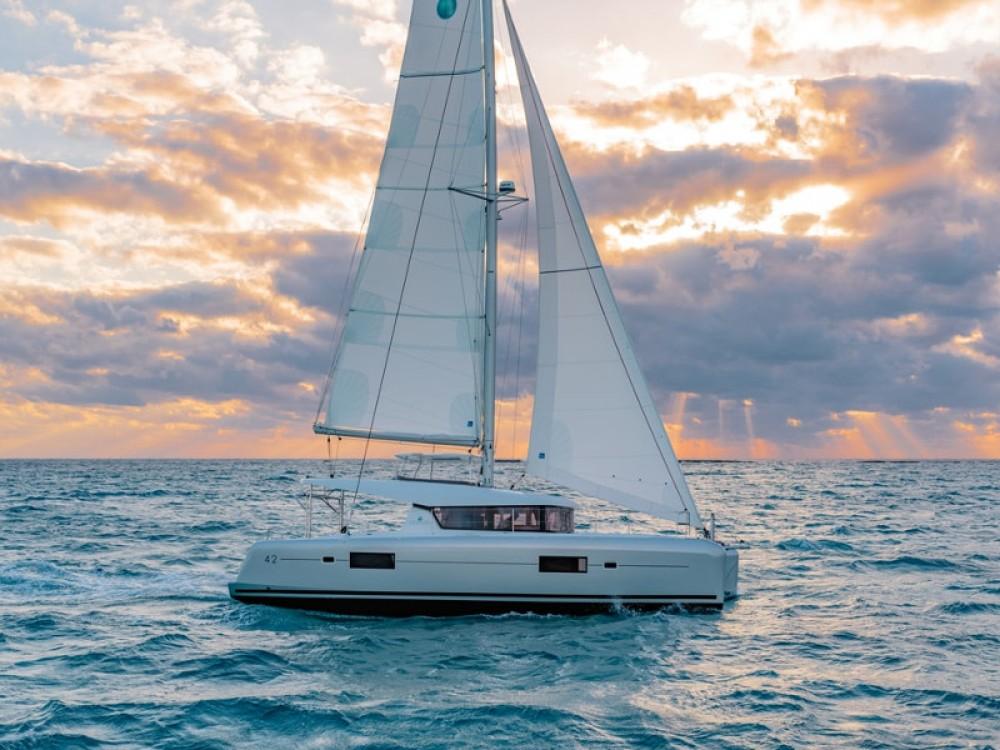 Boat rental Lefkada cheap Lagoon 42