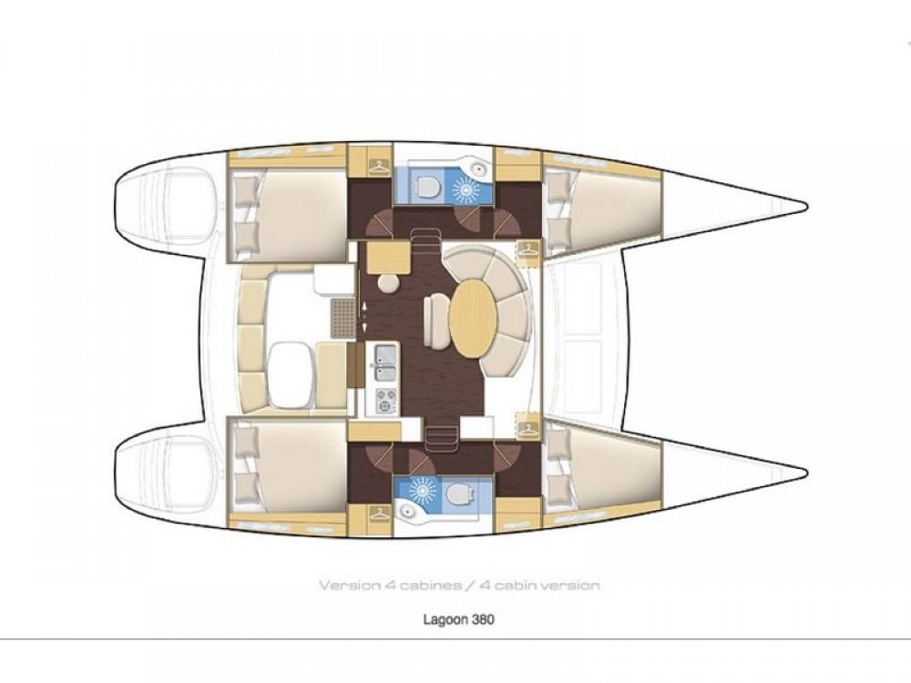 Rental yacht Álimos - Lagoon Lagoon 380 on SamBoat