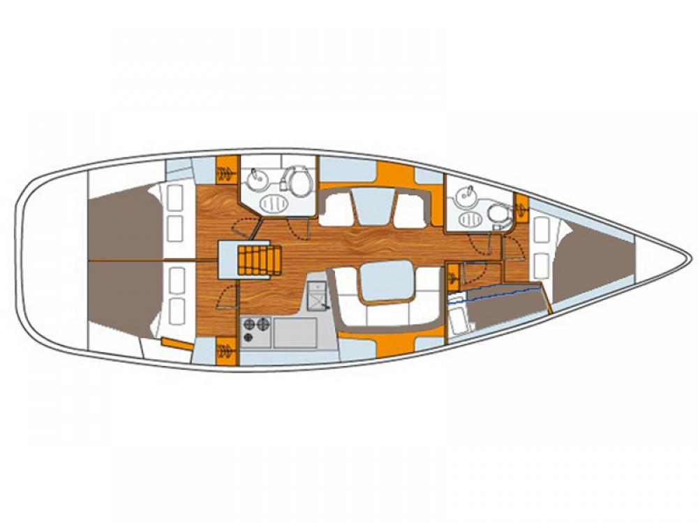 Boat rental Jeanneau Sun Odyssey 43DS in Vodice on Samboat