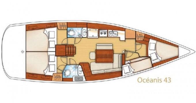 Boat rental Gouvia cheap Oceanis 43