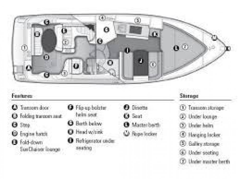 Boat rental  cheap Bayliner 285 Cruiser