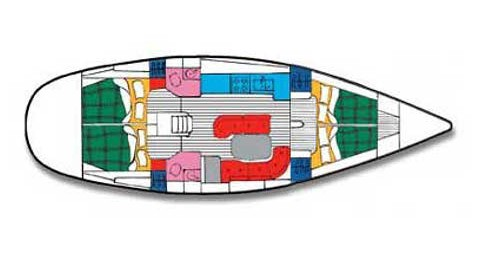 Rental yacht Palma de Mallorca - Bénéteau Oceanis 461 on SamBoat