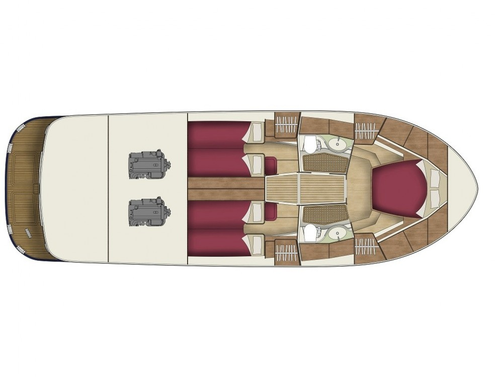 Boat rental Sas Vektor ADRIANA 44 BT (18) in Sukošan on Samboat