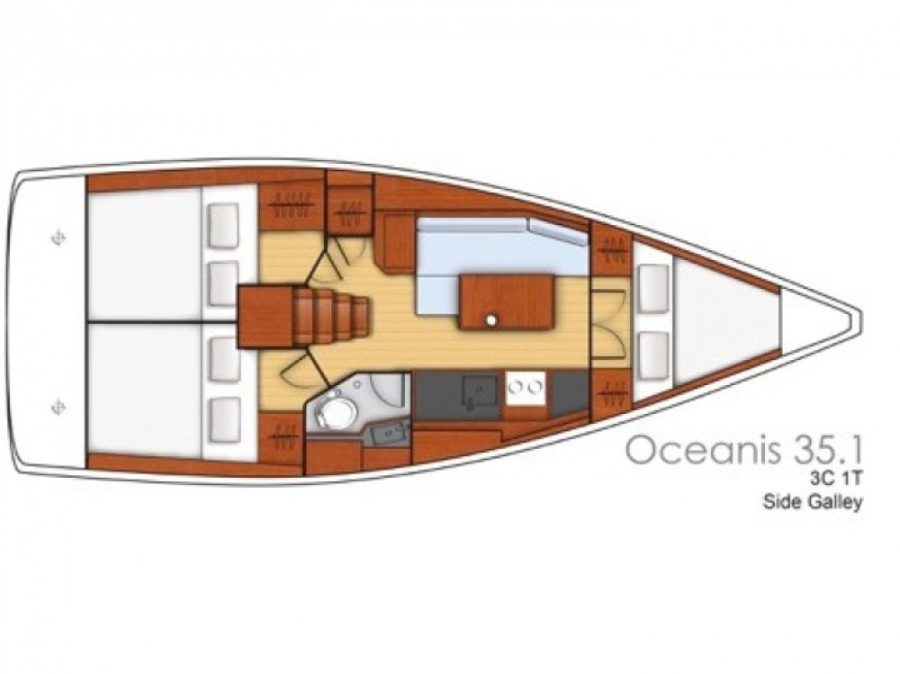 Bénéteau Oceanis 35 between personal and professional Pomer