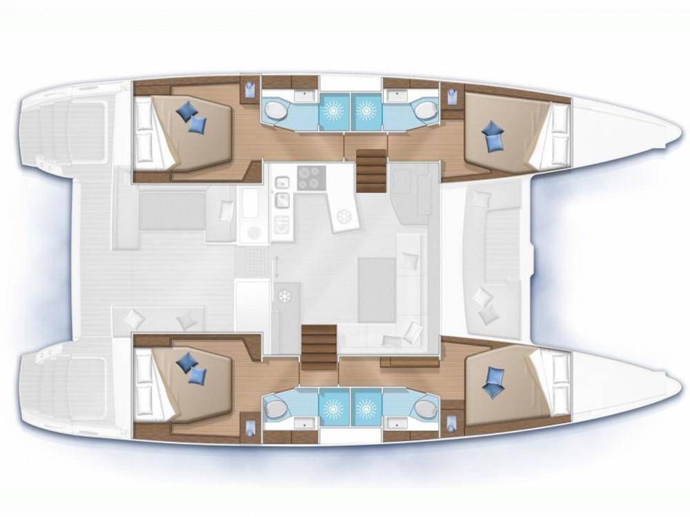 Rental yacht Primošten - Lagoon Lagoon 450  Flybridge on SamBoat
