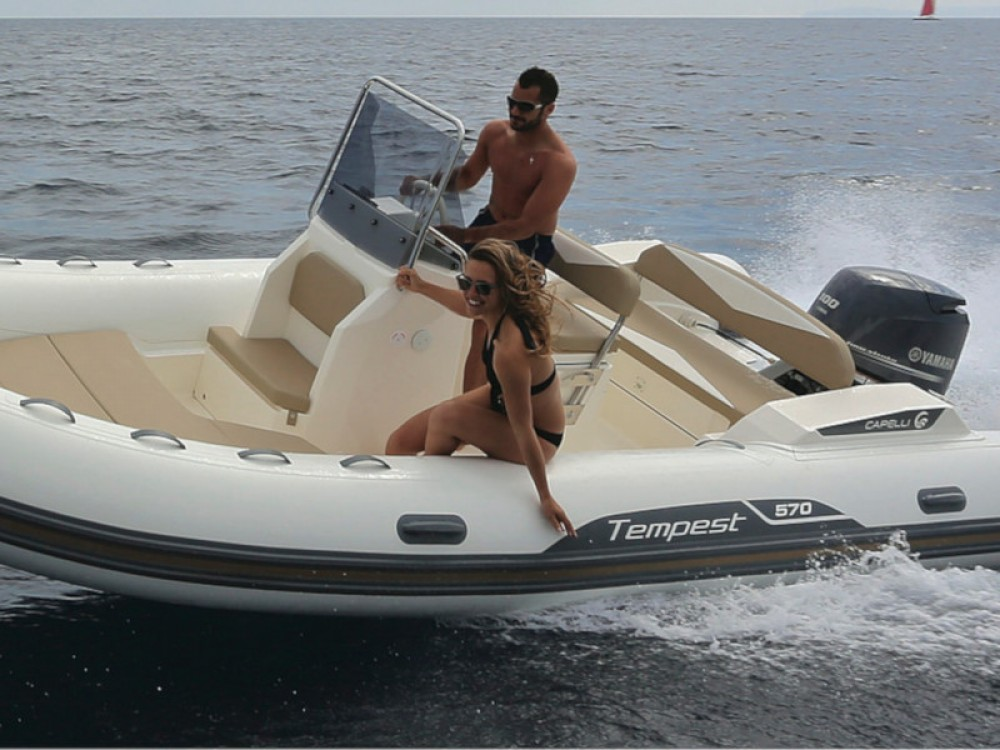 Rent a Cantiere TEMPEST 570 + Honda 135