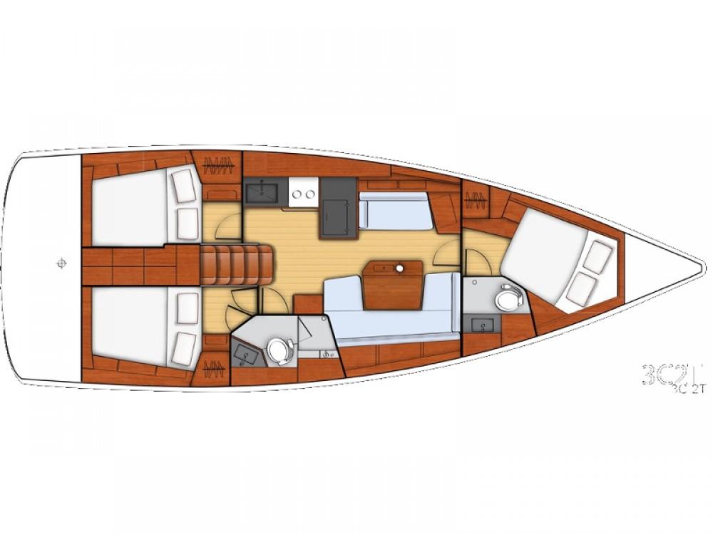 Rental Sailboat in  - Bénéteau Beneteau - Oceanis 41.1