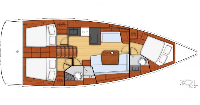Rental yacht Athens - Bénéteau Beneteau - Oceanis 41.1 on SamBoat