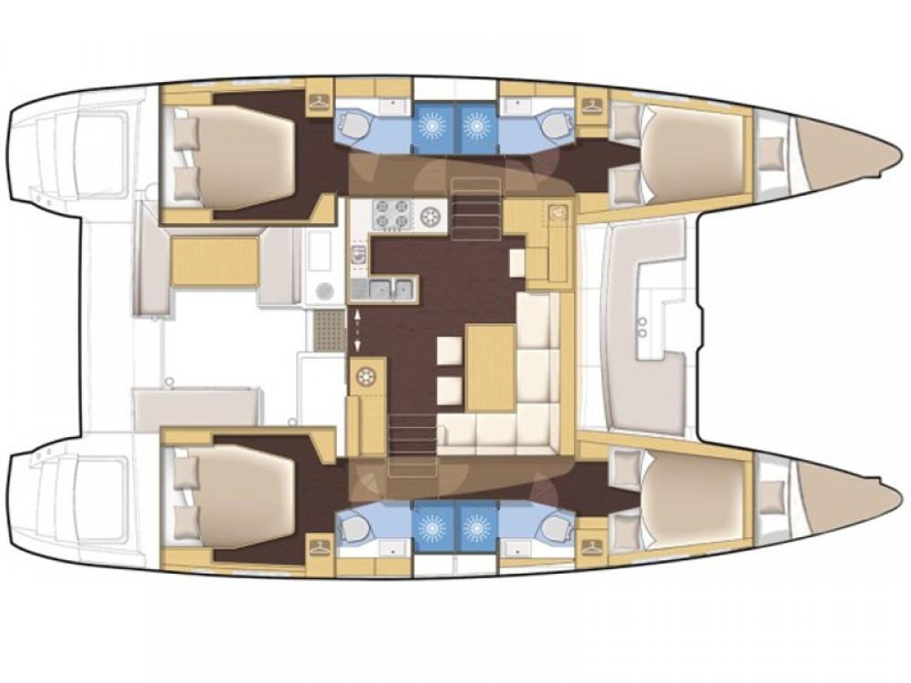Rental Catamaran Fountaine Pajot with a permit