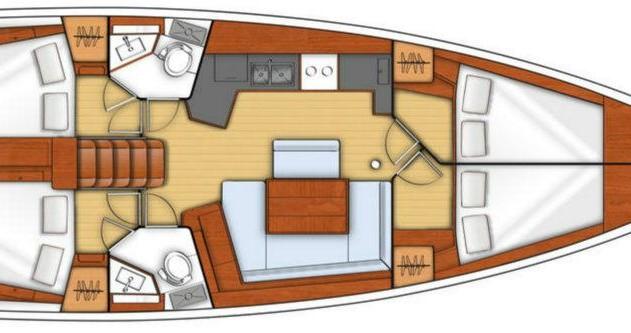 Rental yacht Dubrovnik - Bénéteau Oceanis 45 on SamBoat