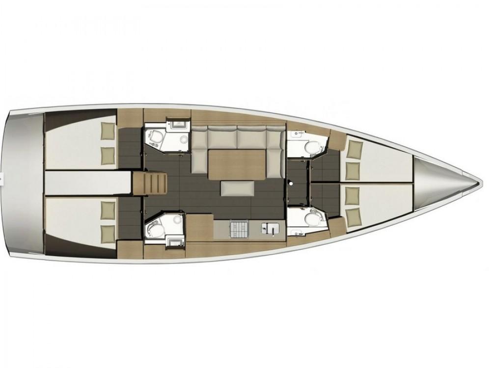 Rental Sailboat in Marina Kaštela - Dufour Dufour 460 Grand Large