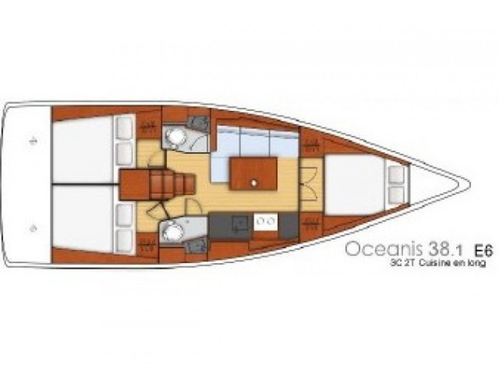 Rental Sailboat in Komolac - Bénéteau Oceanis 38.1