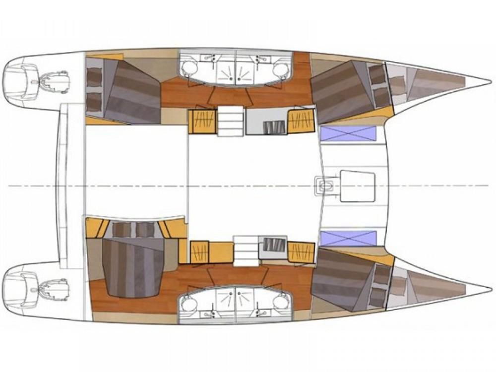 Boat rental Fountaine Pajot Orana 44 Quatuor in Marmaris on Samboat