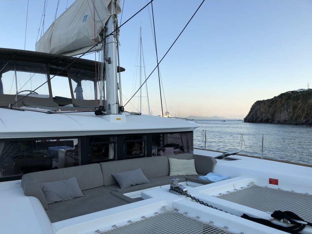 Boat rental Lagoon Lagoon 450F (A/C+WaterMaker+GEN) in Capo d'Orlando on Samboat
