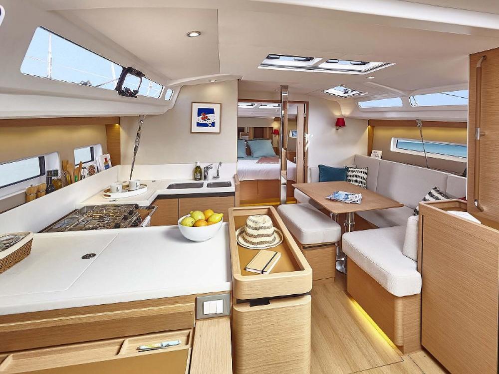 Boat rental Lefkada cheap Sun Odyssey 440