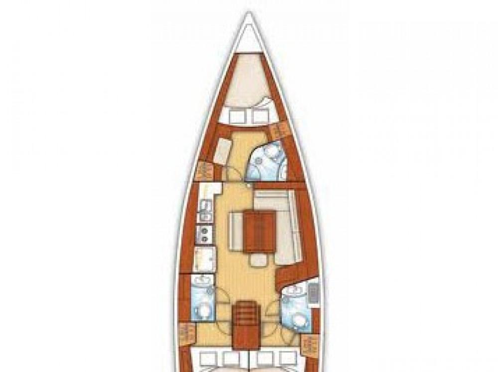 Boat rental Cagliari cheap Oceanis 43