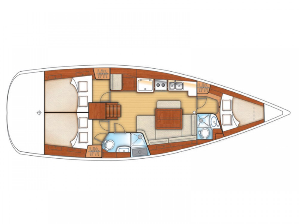 Boat rental  cheap Oceanis 40