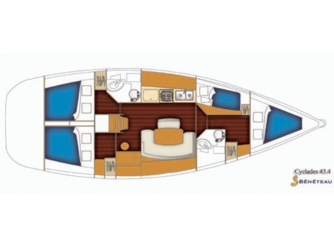 Rental Sailboat in Nettuno - Bénéteau Cyclades 43.4