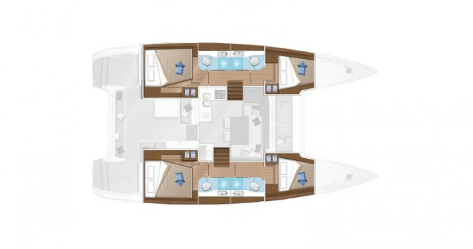 Boat rental Santa Eulària des Riu cheap Lagoon 40