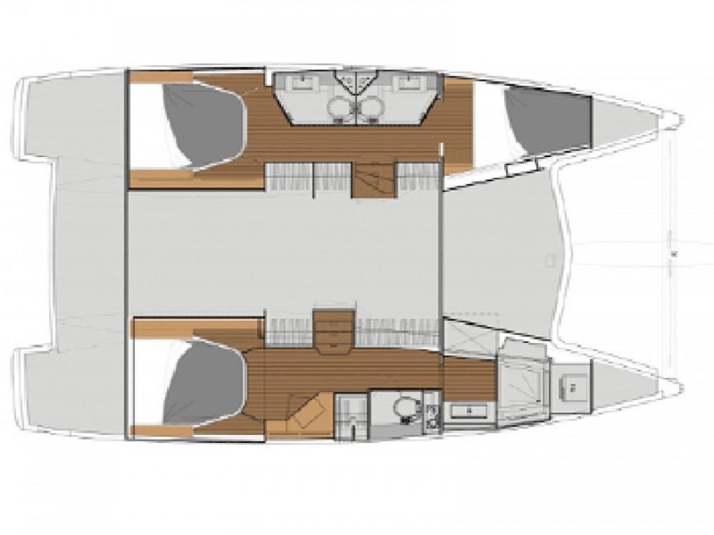Rental Catamaran in Krk - Fountaine Pajot Lucia 40 - 3 cab