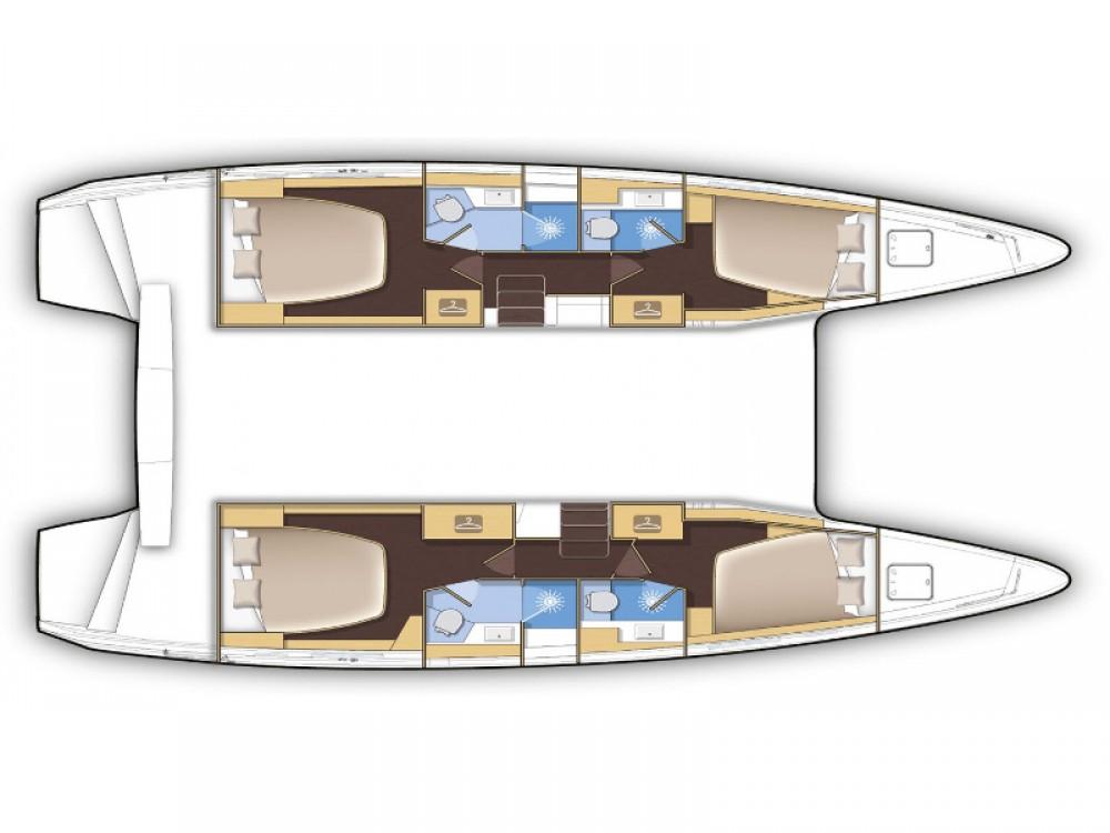 Rental yacht Rogosnizza - Lagoon Lagoon 42 - 3 cab on SamBoat
