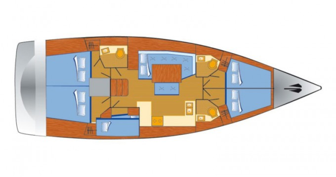 Boat rental Punat cheap Oceanis 48