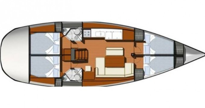 Jeanneau Sun Odyssey 44i between personal and professional Gouvia