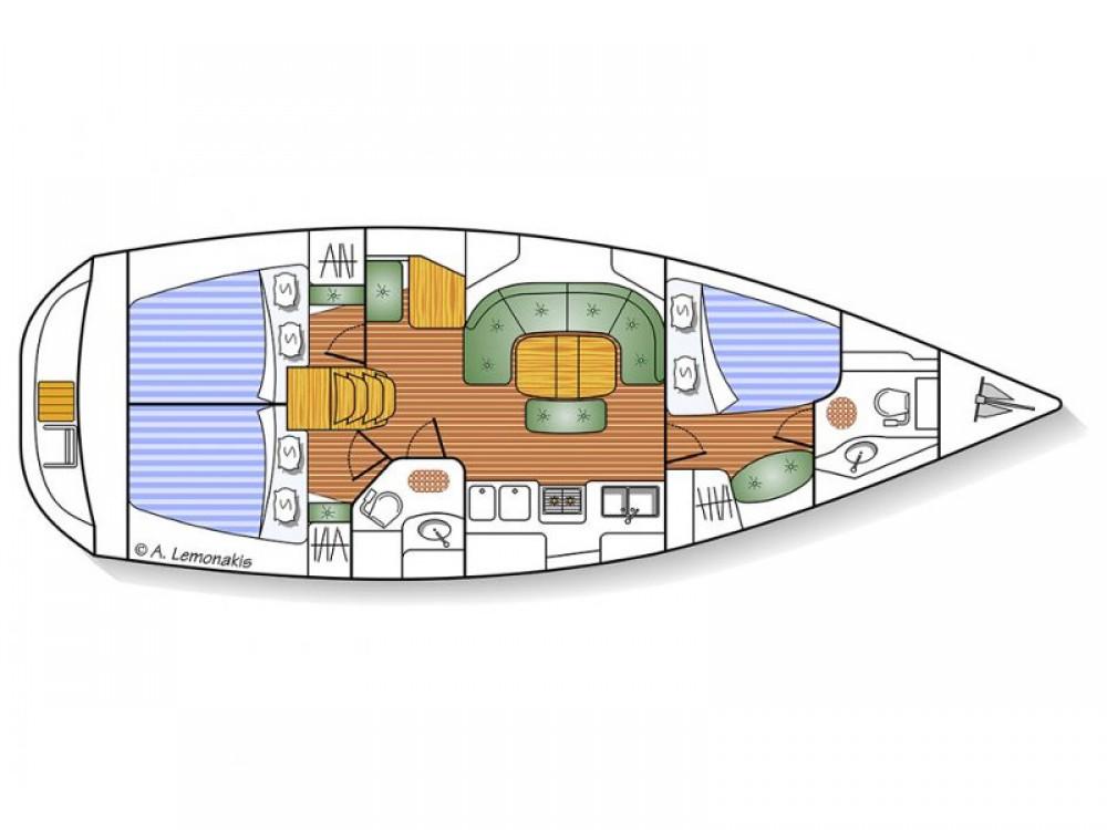 Boat rental Bénéteau Oceanis 393 Clipper in Áno Sýros on Samboat