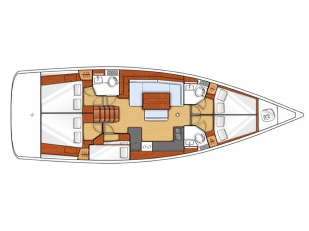 Boat rental Kaštel Gomilica cheap Oceanis 48