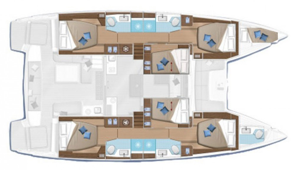 Catamaran for rent ACI Marina Dubrovnik at the best price