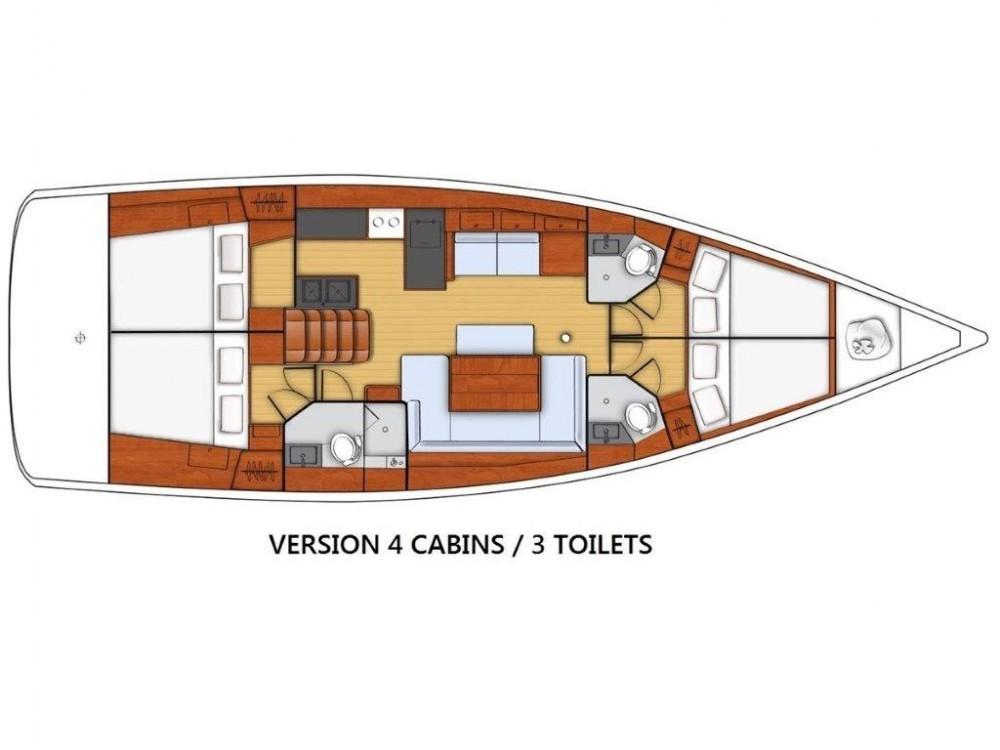 Rental Sailboat in Kaštel Gomilica - Bénéteau Oceanis 48