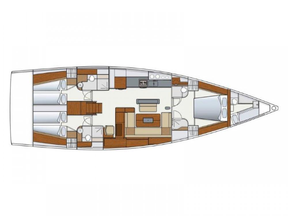 Rental yacht Kaštel Gomilica - Hanse Hanse 575 on SamBoat