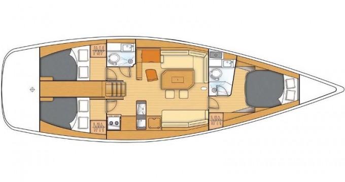 Boat rental Kaštel Gomilica cheap First 45