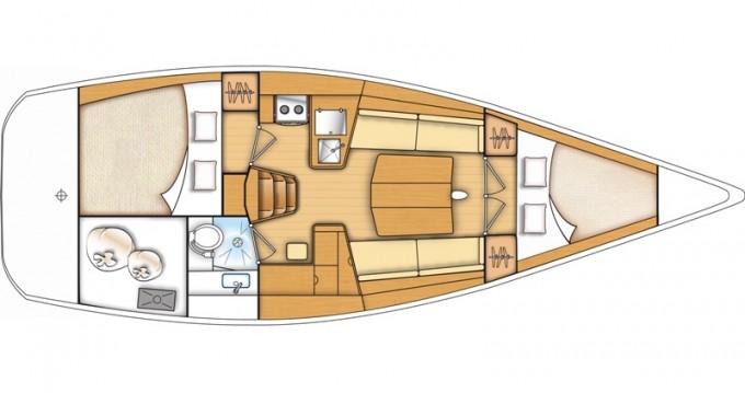 Rental Sailboat in Kaštel Gomilica - Bénéteau First 35