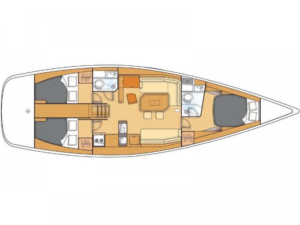 Boat rental Kaštel Gomilica cheap Beneteau First 45