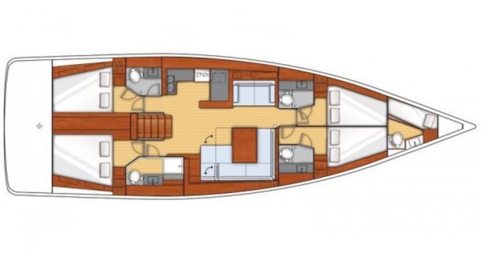 Rental Sailboat in Kaštel Gomilica - Bénéteau Beneteau Oceanis 55
