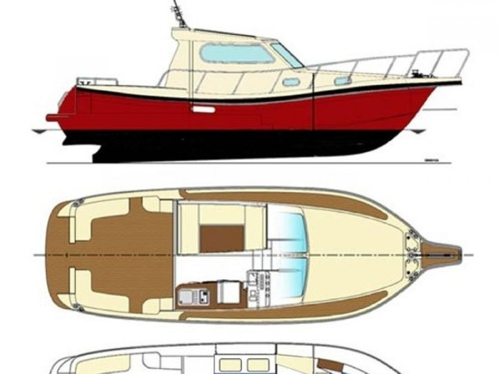 Rental Motor boat Damor with a permit