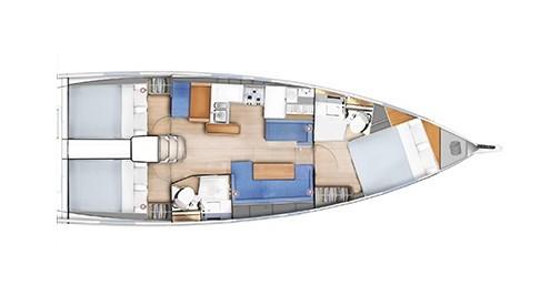 Jeanneau Sun Odyssey 410 between personal and professional Lefkada (Island)