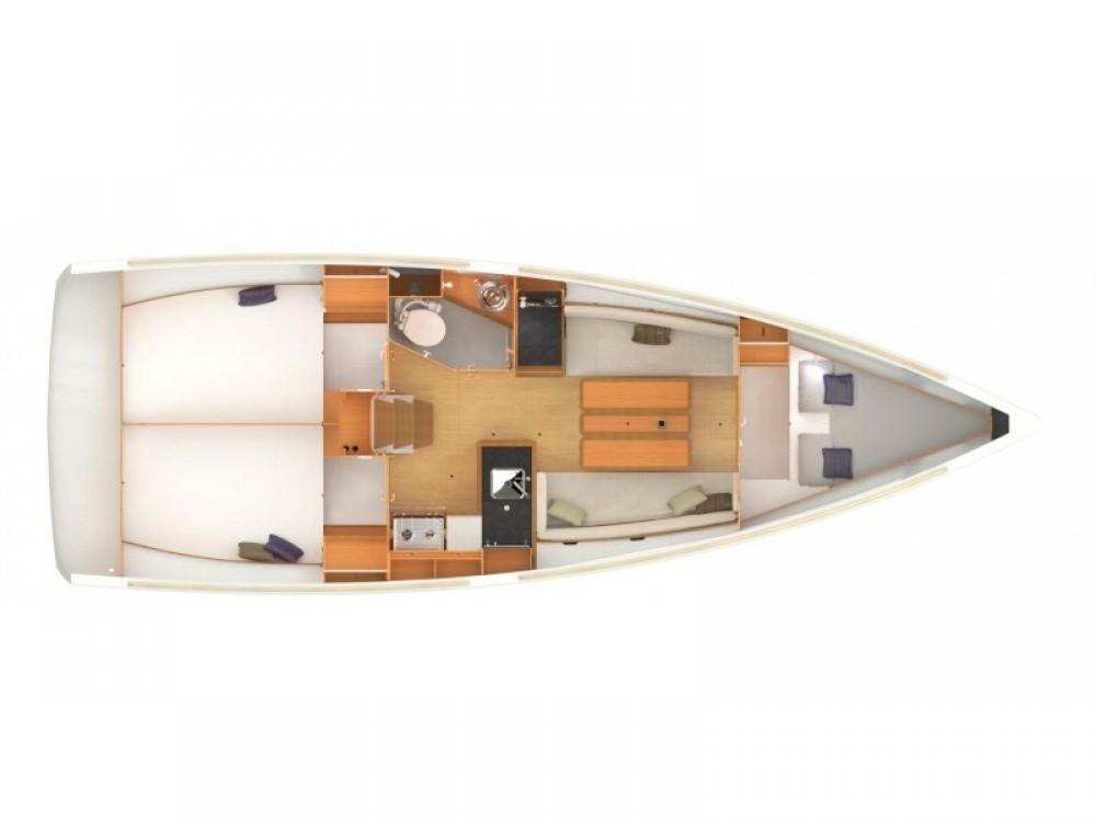 Rental Sailboat in Castiglione della Pescaia - Jeanneau Sun Odyssey 349